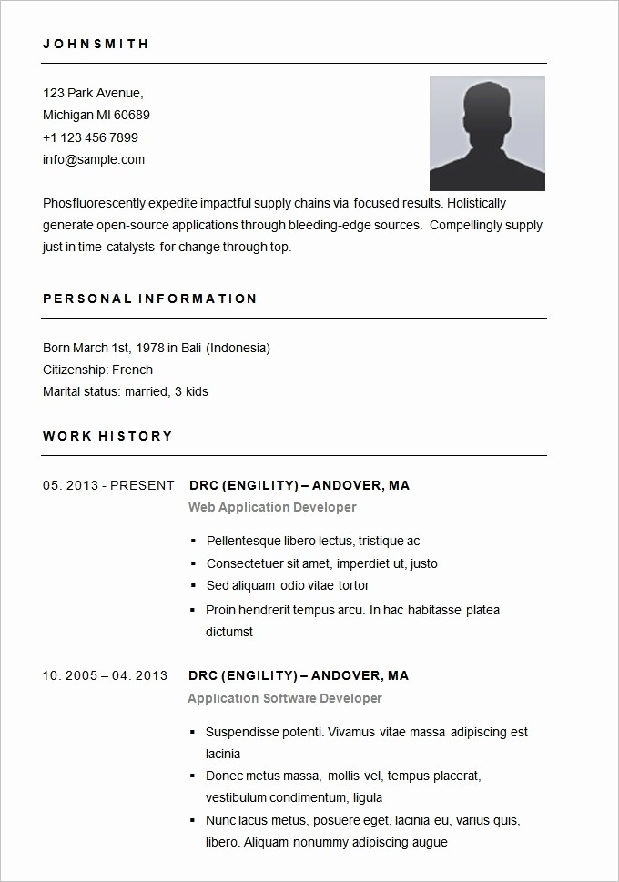 Sample Of A Simple Resume Unique Basic Resume Template Beepmunk