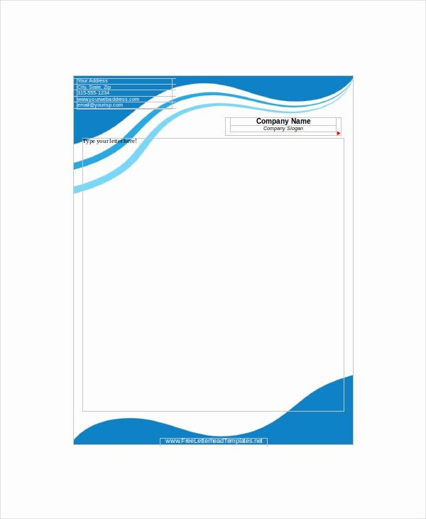 Sample Of Business Letterhead format Best Of 12 Letterhead Templates Free Sample Example format