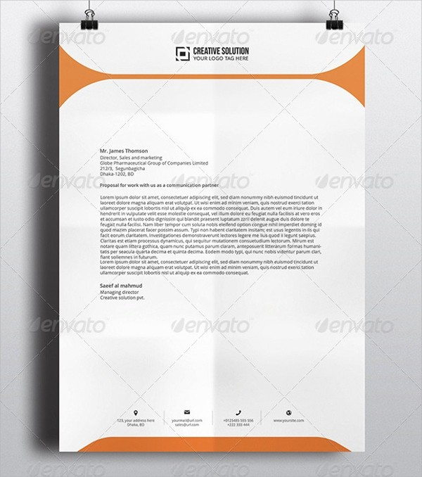 Sample Of Business Letterhead format Luxury 42 Pany Letterhead Templates