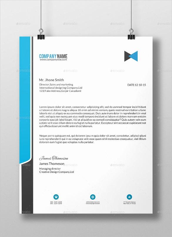 Sample Of Business Letterhead format New 20 Business Letterhead Templates – Free Sample Example