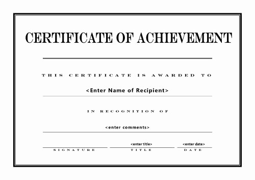 Sample Of Certificate Of Achievement Beautiful 26 Achievement Certificates for 2018