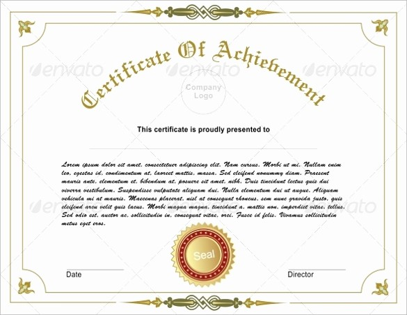 Sample Of Certificate Of Achievement Beautiful 38 Best Certificate Of Achievement Templates