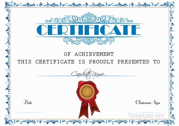 Sample Of Certificate Of Achievement Best Of Free Certificate Template – 65 Adobe Illustrator