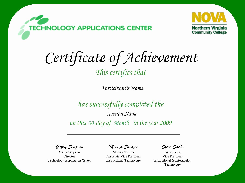 Sample Of Certificate Of Achievement Elegant Best S Of Certificate Achievement Wording