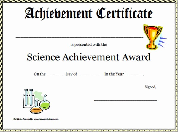 Sample Of Certificate Of Achievement Fresh 30 Sample Certificate Templates
