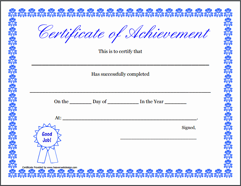 Sample Of Certificate Of Achievement Fresh Certificate Achievement Template