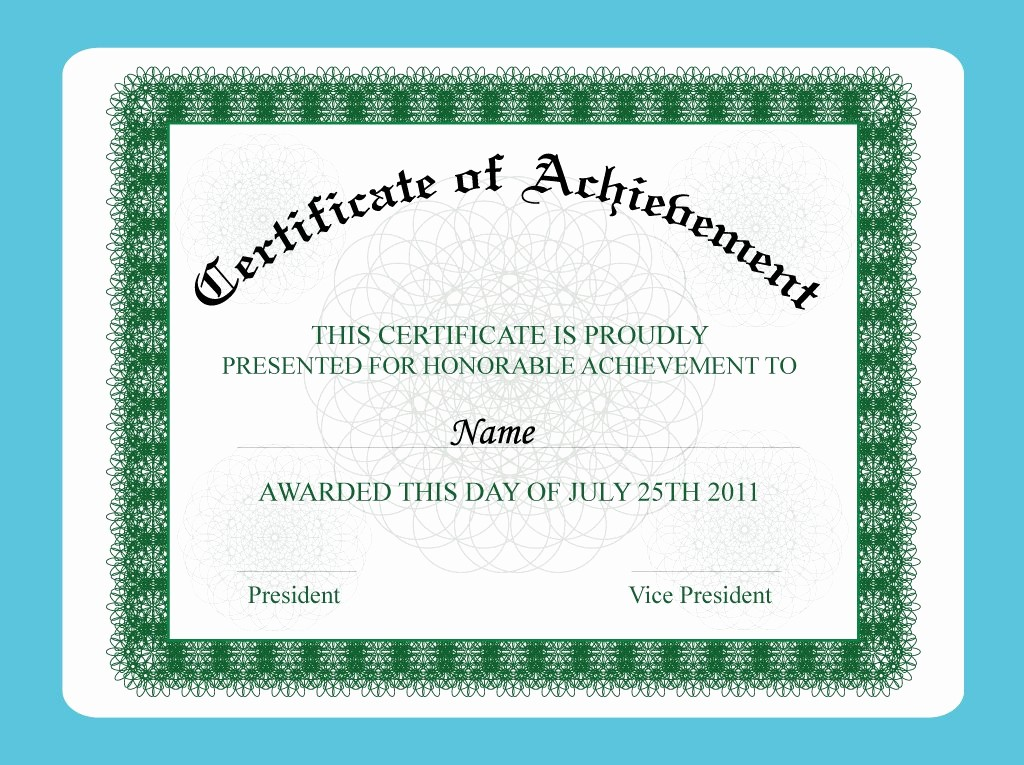 Sample Of Certificate Of Achievement Inspirational Achievement Certificate