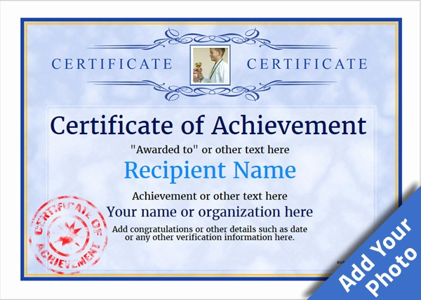 Sample Of Certificate Of Achievement Inspirational Certificate Of Achievement Free Templates Easy to Use