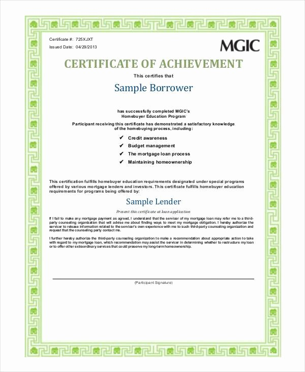 Sample Of Certificate Of Achievement Inspirational Sample Certificate Achievement