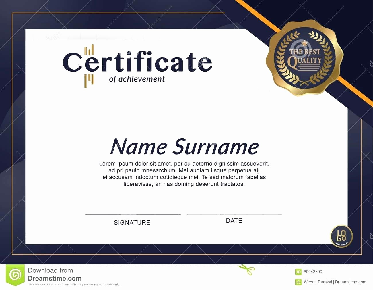 Sample Of Certificate Of Achievement Inspirational Template Certificate Outline Template