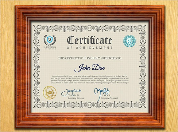 Sample Of Certificate Of Achievement Lovely 9 Certificate Of Achievement Templates