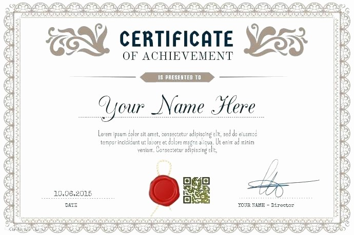 Sample Of Certificate Of Achievement New Certificate Of Achievement Sample – Puebladigital