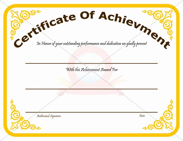 Sample Of Certificate Of Achievement Unique 30 Acievement Certificate Templates