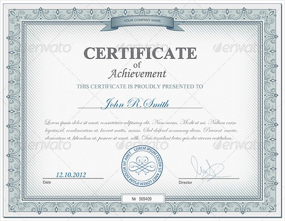 Sample Of Certificate Of Achievement Unique 9 Certificate Of Achievement Templates