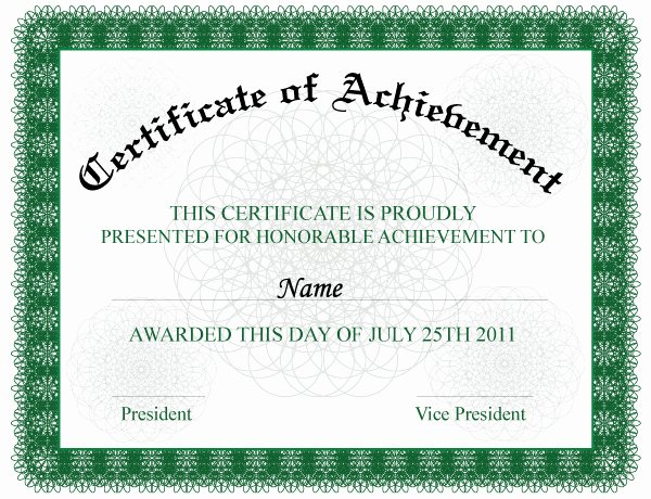Sample Of Certificate Of Achievement Unique Words Achievement Quotes Quotesgram