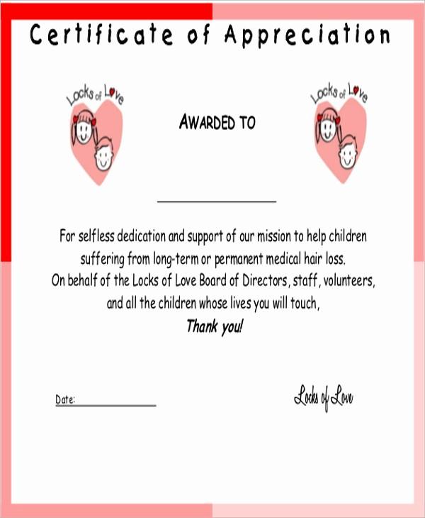 Sample Of Certificate Of Appreciation Beautiful 9 Sample Certificates Of Appreciation