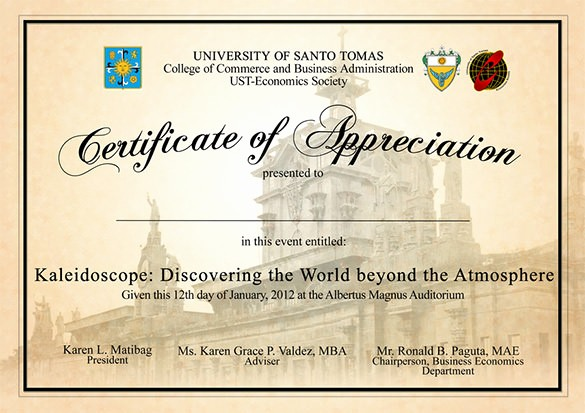 Sample Of Certificate Of Appreciation Best Of 29 Certificate Of Appreciation Templates Word Pdf Psd