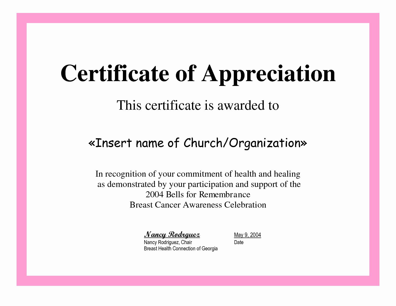 Sample Of Certificate Of Appreciation Best Of 7 Best Of Printable Certificates Appreciation
