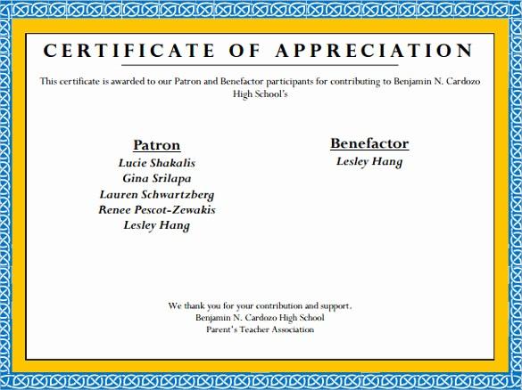 Sample Of Certificate Of Appreciation Elegant 24 Sample Certificate Of Appreciation Temaplates to