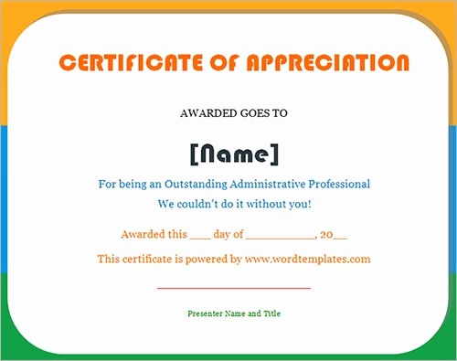 Sample Of Certificate Of Appreciation Fresh 30 Certificate Templates