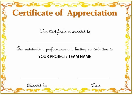 Sample Of Certificate Of Appreciation Unique 20 Free Certificates Appreciation for Employees