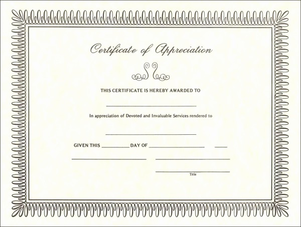 Sample Of Certificates Of Appreciation Beautiful Using A Sample Certificate Of Appreciation