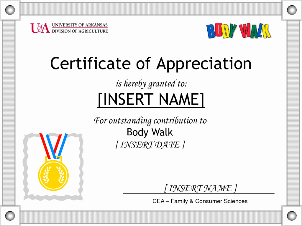 Sample Of Certificates Of Appreciation Best Of 10 Best Recognition Certificate Wording Samples