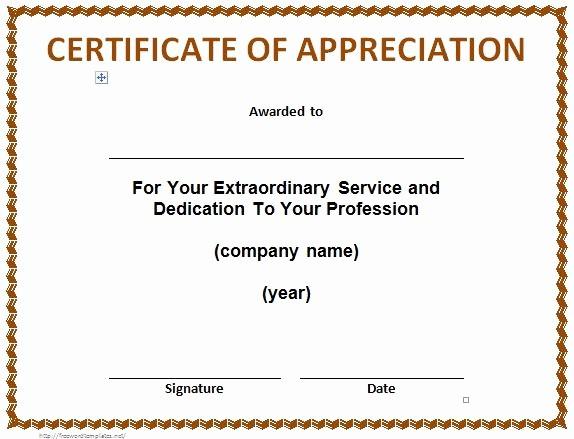 Sample Of Certificates Of Appreciation Fresh 30 Free Certificate Of Appreciation Templates and Letters