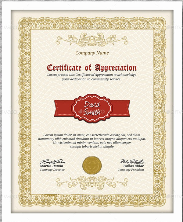 Sample Of Certificates Of Appreciation Inspirational Certificate Of Appreciation Template