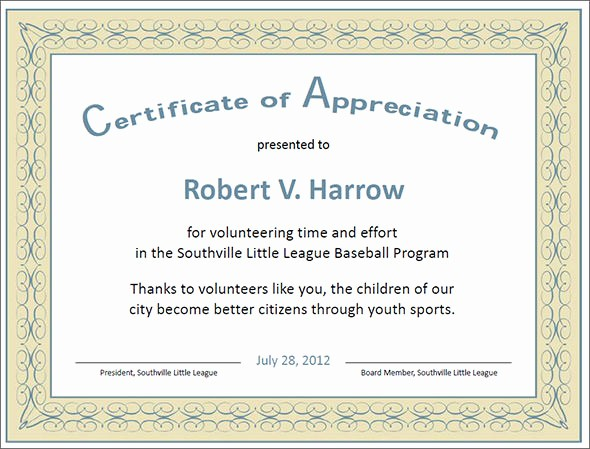 Sample Of Certificates Of Appreciation Lovely 27 Best Printable Certificate Of Appreciation Templates