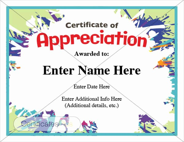 Sample Of Certificates Of Appreciation Luxury 8 Certificate Of Appreciation Examples & Samples