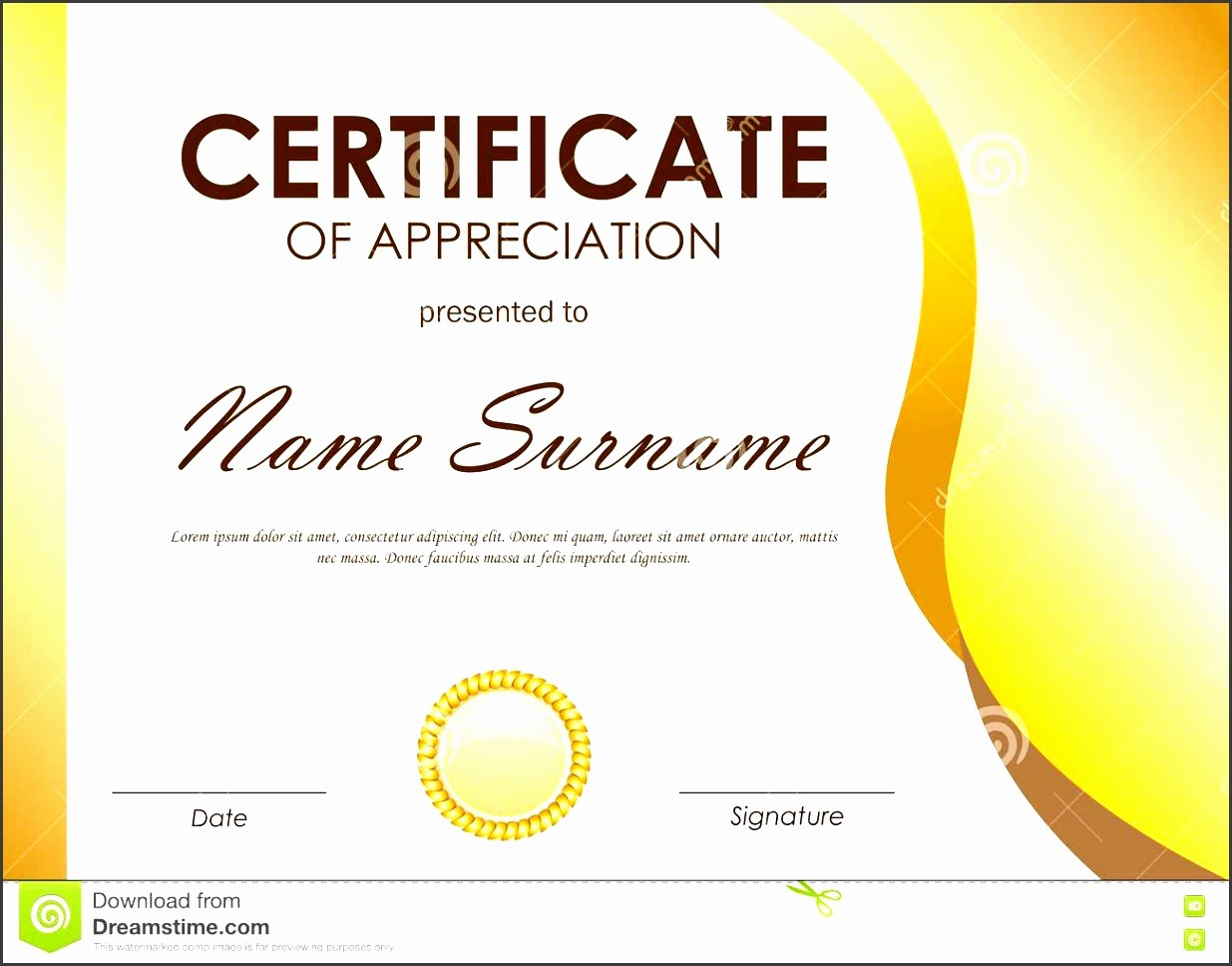 Sample Of Certificates Of Appreciation Unique 8 Easy to Use Certificate Appreciation Template