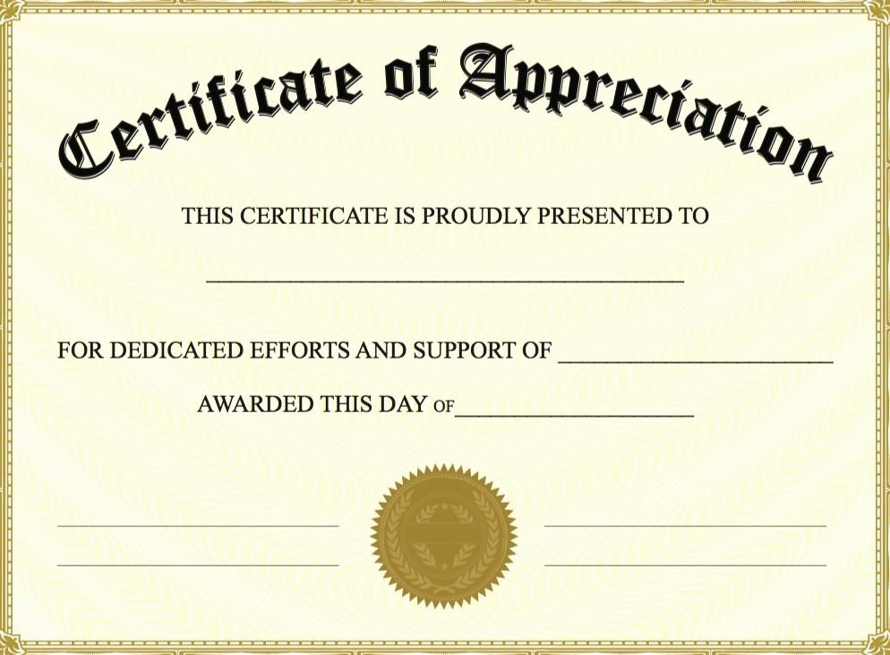 Sample Of Certification Of Appreciation Awesome Free Certificate Appreciation Templates Invitation