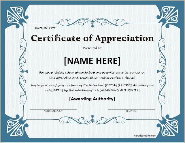 Sample Of Certification Of Appreciation Beautiful Certificates Of Appreciation Templates for Word