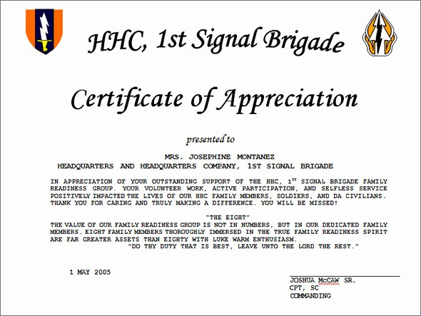 Sample Of Certification Of Appreciation Best Of 27 Best Printable Certificate Of Appreciation Templates