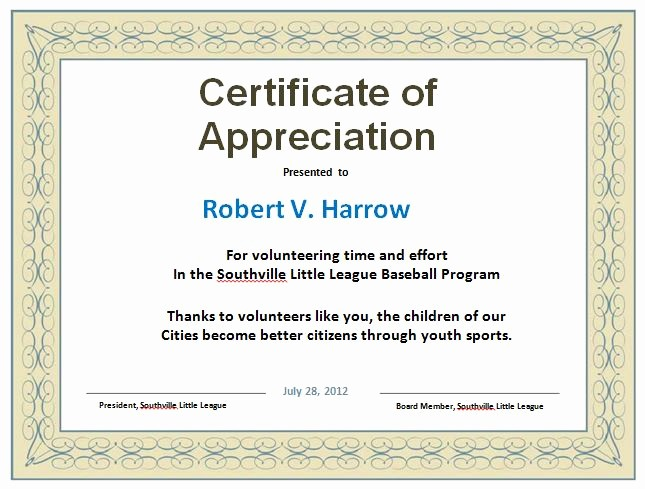 Sample Of Certification Of Appreciation Best Of 31 Free Certificate Of Appreciation Templates and Letters