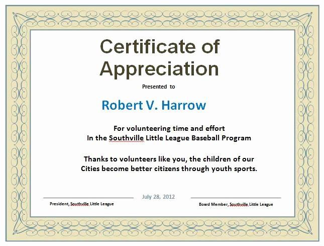 Sample Of Certification Of Appreciation Best Of 31 Free Certificate Of Appreciation Templates and Letters