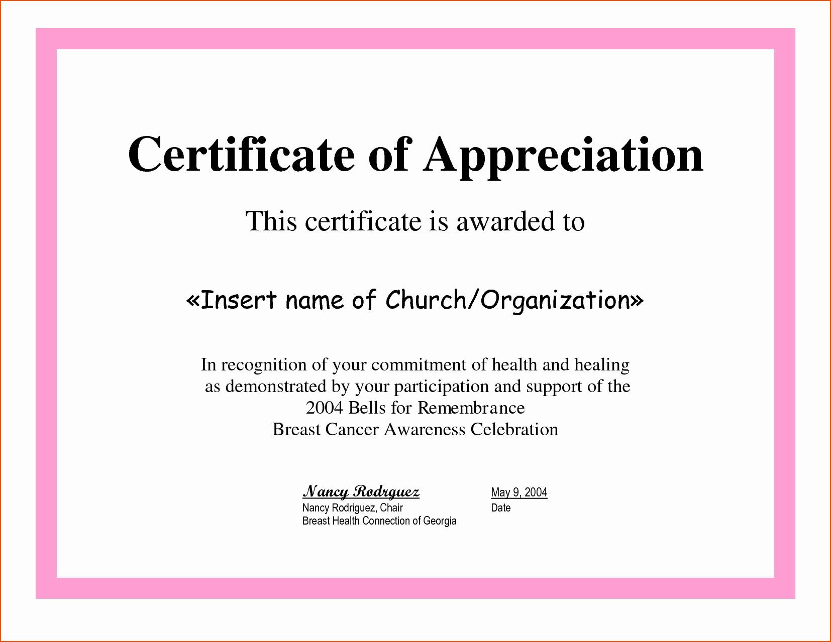 Sample Of Certification Of Appreciation Best Of 8 Certificate Of Appreciation Samples Bookletemplate