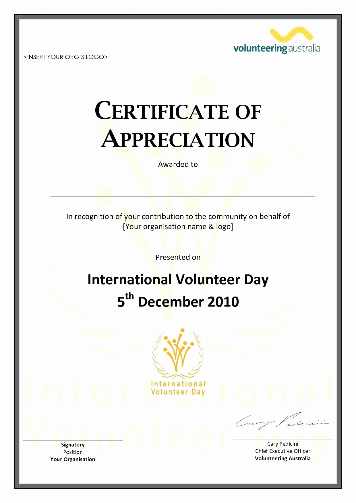 Sample Of Certification Of Appreciation Best Of Template Pastor Appreciation Certificate Template