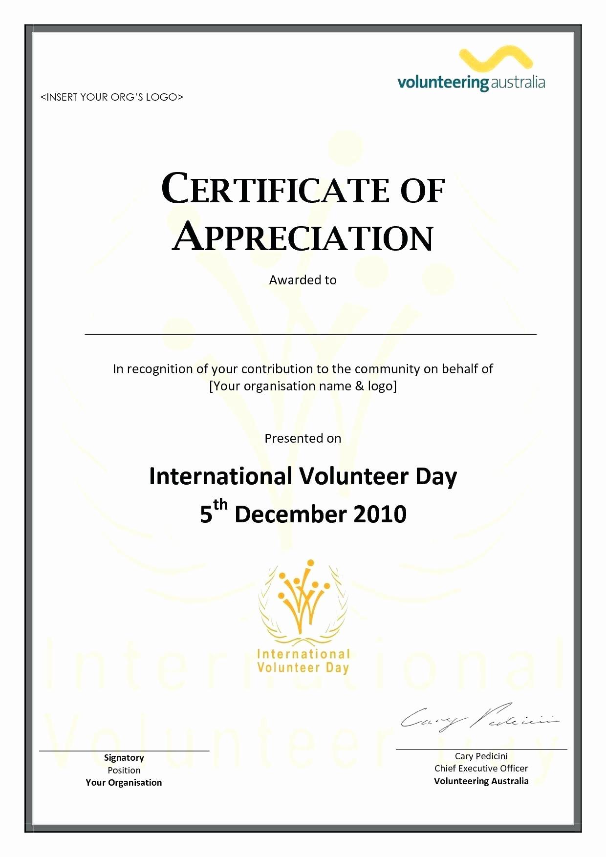 Sample Of Certification Of Appreciation Best Of Template Pastor Appreciation Certificate Template