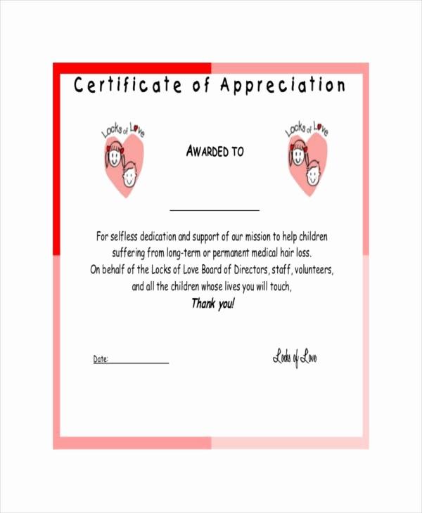 Sample Of Certification Of Appreciation Elegant 27 Certificate Of Appreciation Templates Pdf Doc