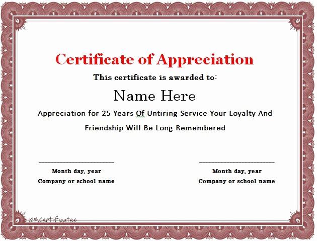 Sample Of Certification Of Appreciation Fresh 30 Free Certificate Of Appreciation Templates and Letters