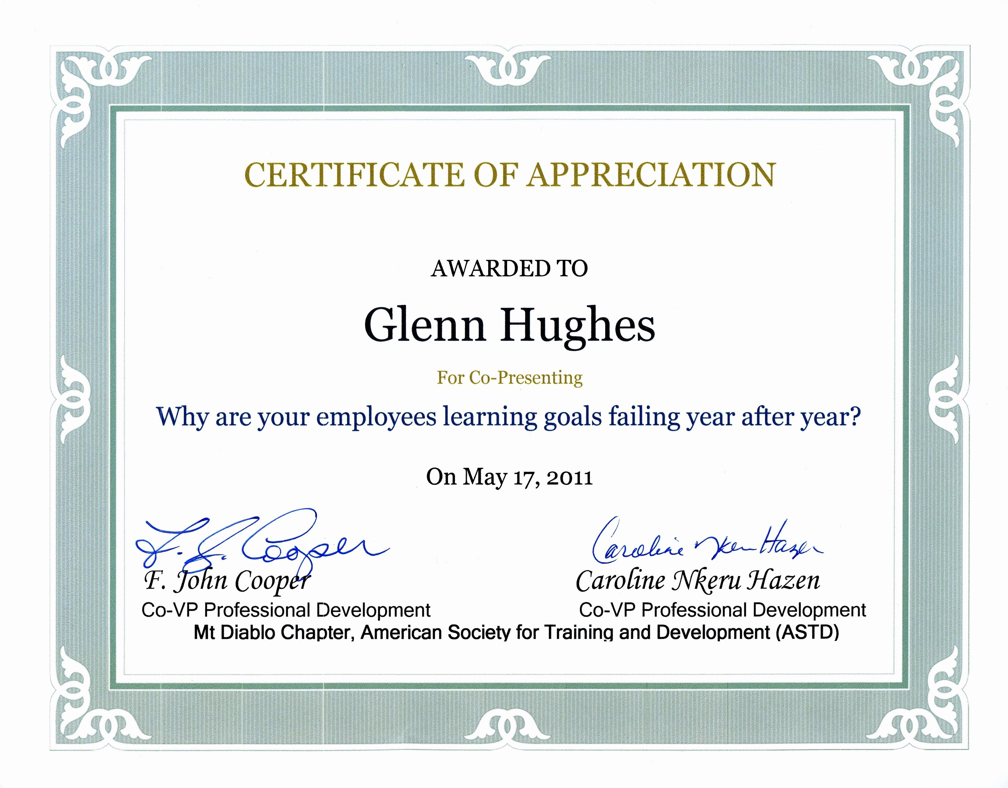 Sample Of Certification Of Appreciation Lovely Appreciation Certificates Wording Portablegasgrillweber