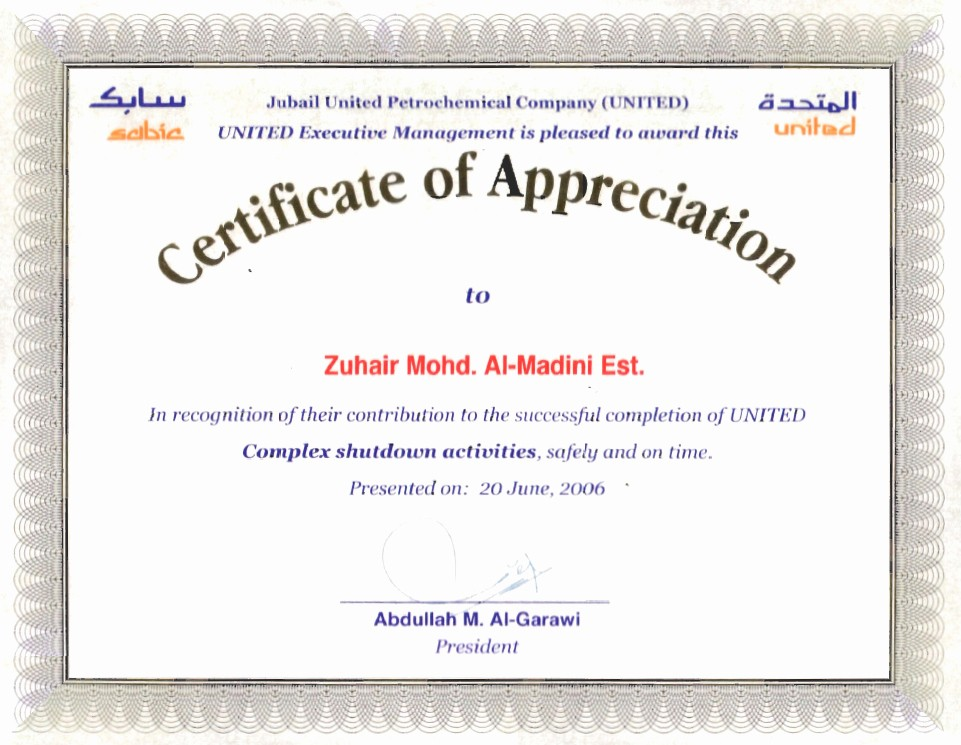 Sample Of Certification Of Appreciation New Appreciation Certificate