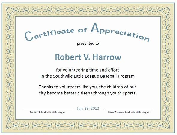 Sample Of Certification Of Appreciation Unique 27 Best Printable Certificate Of Appreciation Templates