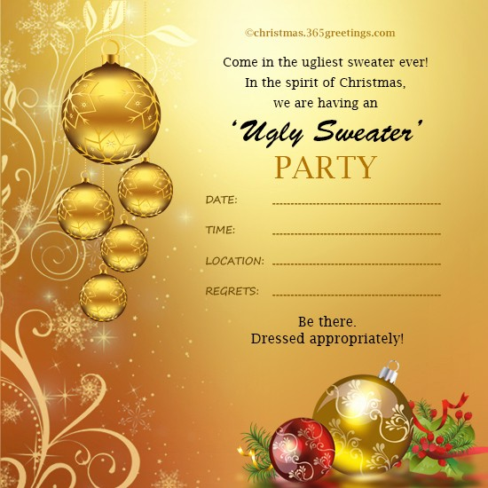 Sample Of Christmas Party Invitation Awesome Christmas Invitation Template and Wording Ideas