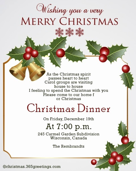 Sample Of Christmas Party Invitation Best Of Christmas Invitation Template and Wording Ideas