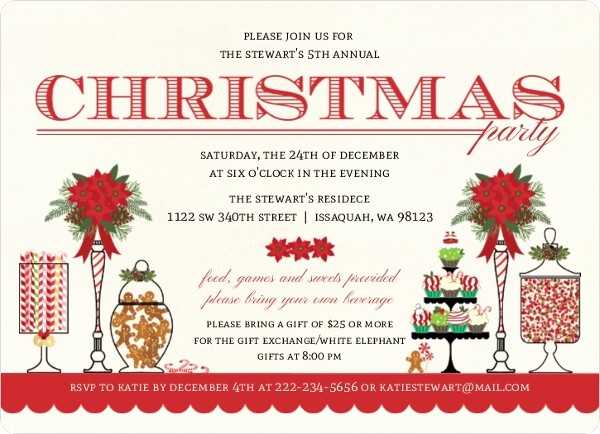 Sample Of Christmas Party Invitation Best Of Christmas Party Invitation Wording From Purpletrail