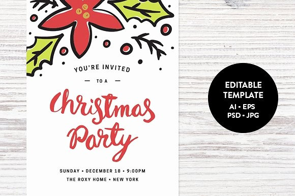 Sample Of Christmas Party Invitation Fresh Christmas Party Invitation Template Invitation Templates