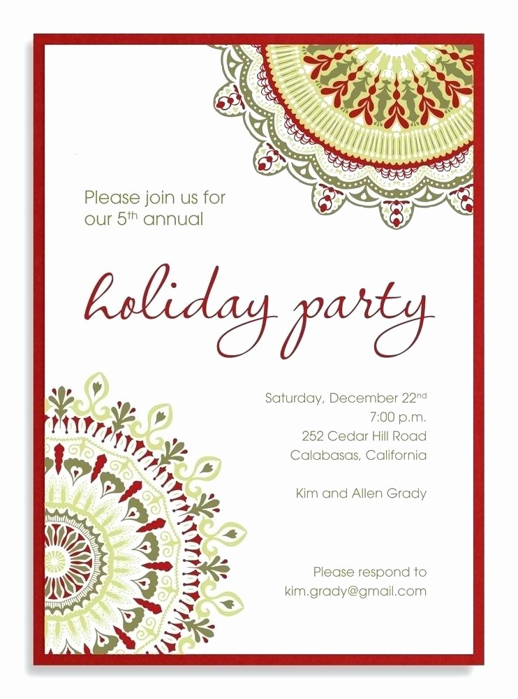 Sample Of Christmas Party Invitation Lovely Pany Party Invitation Sample Corporate Holiday Wording